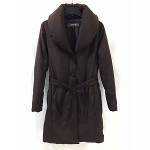 Kenneth Cole Womens L Brown Down Insulated Coat